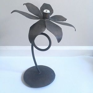 Other - Hand Forged Flower Candle Holder